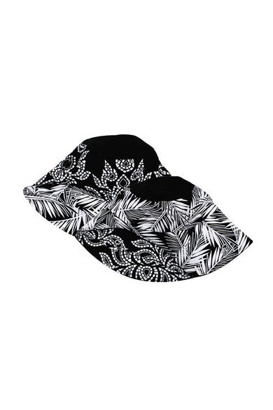 ELEPH CHALU/COCO REVERSIBLE HAT : Black/White