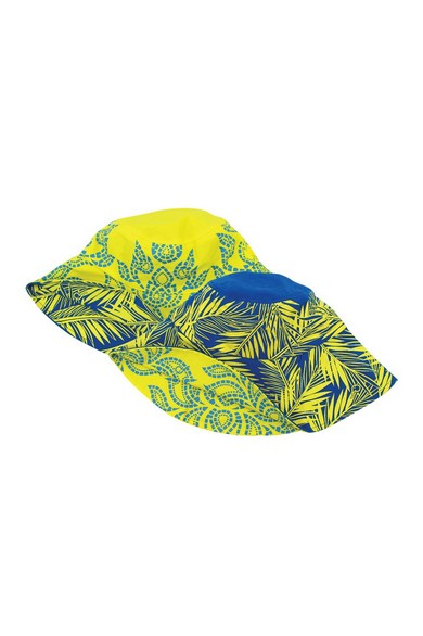 ELEPH CHALU/COCO REVERSIBLE HAT : Yellow/Blue