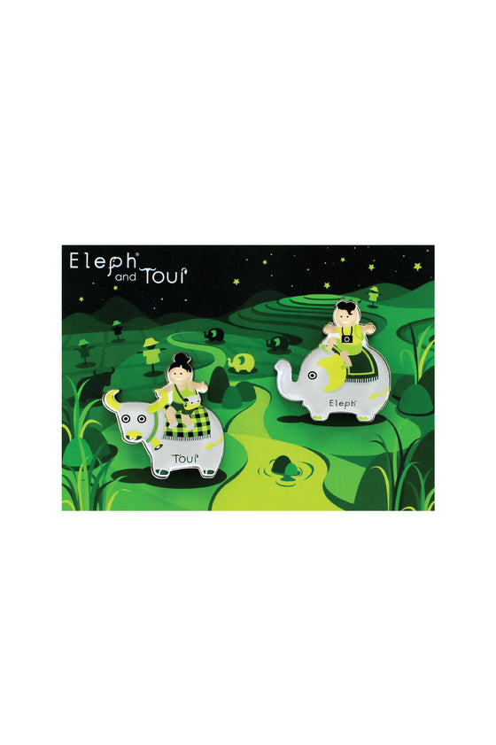 ELEPH POSTCARD WITH MAGNETS : Green