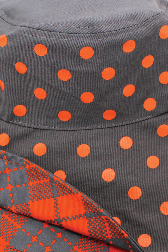 TOUI KAOMA/DOT REVERSIBLE HAT : Orange/Grey