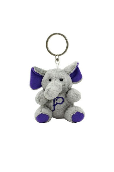 ELEPH FUR DOLL KEY RING : Purple