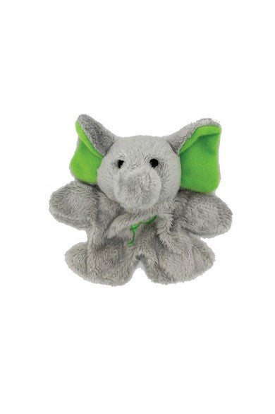 ELEPH FUR DOLL MAGNET : Green