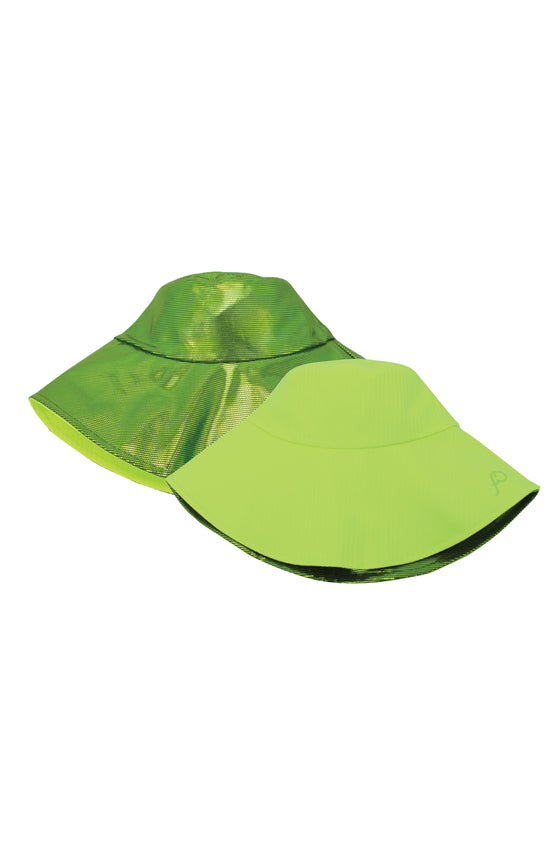 ELEPH PLEAT/DISCO REVERSIBLE HAT : Lime