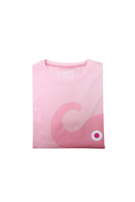 ELEPH T-SHIRT NECK SIDE : Light Pink/Pink