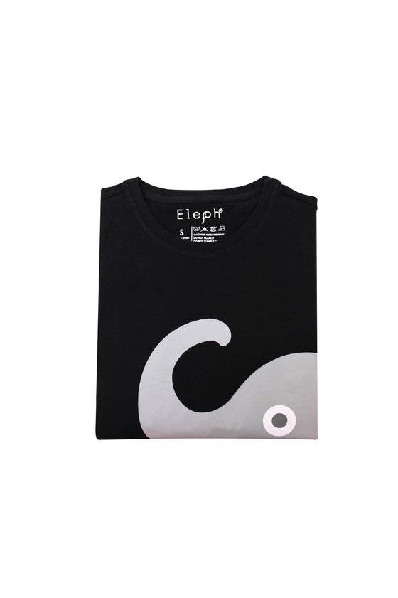 ELEPH T-SHIRT NECK SIDE : Black/Grey
