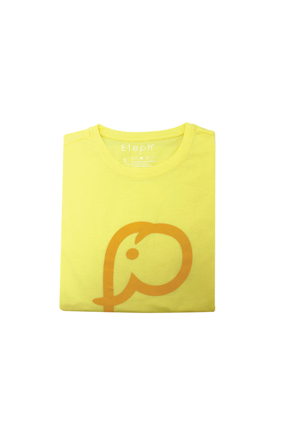 ELEPH T-SHIRT LOGO : Light Yellow/Yellow