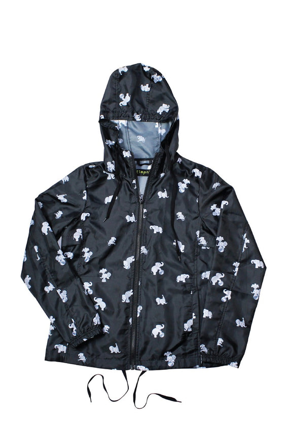 ELEPH WINDBREAKER : Black/White
