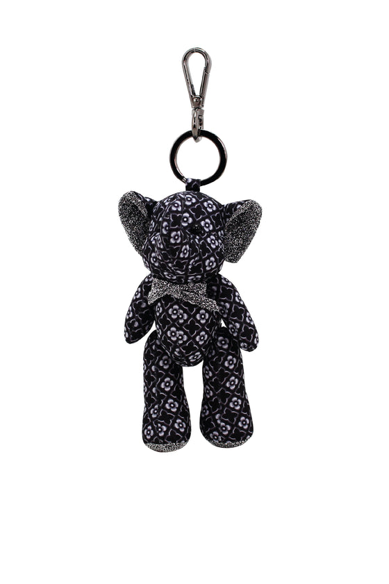 ELEPH DOLL KEY RING KAJUNG : Black/ Grey, Black