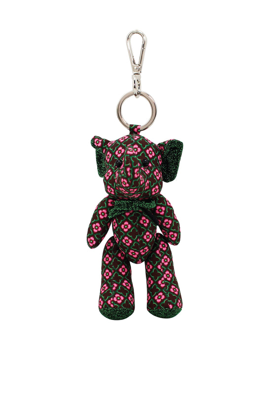 ELEPH DOLL KEY RING KAJUNG : Choc/ Green, Pink
