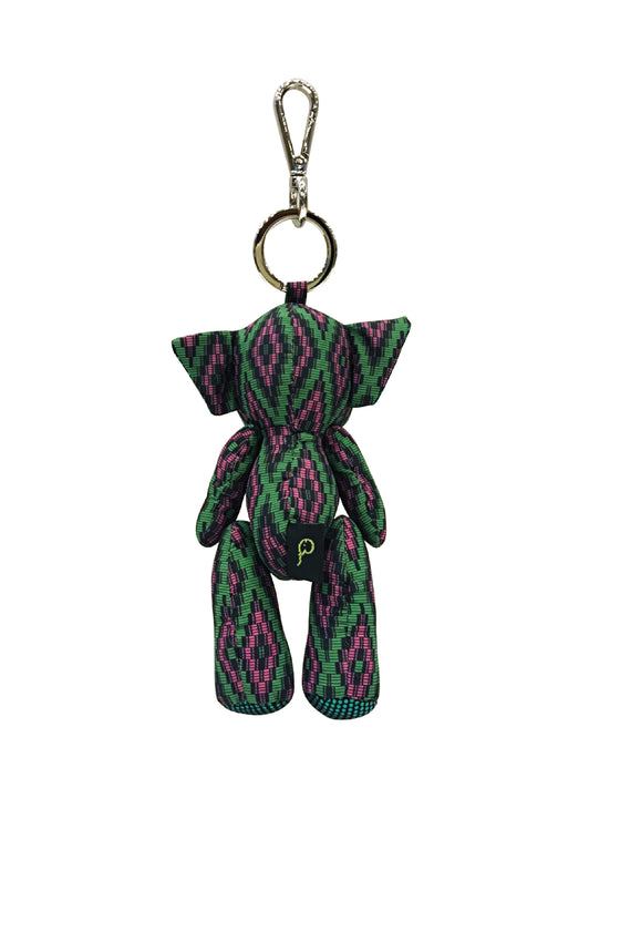 ELEPH DOLL KEY RING MUDMEE : Choc / Green, Pink