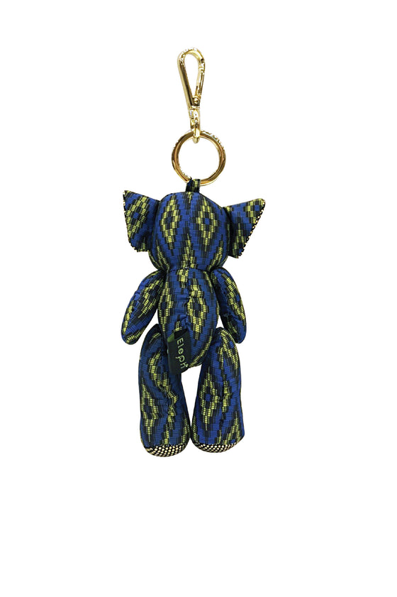 ELEPH DOLL KEY RING MUDMEE : Olive / Blue, Yellow