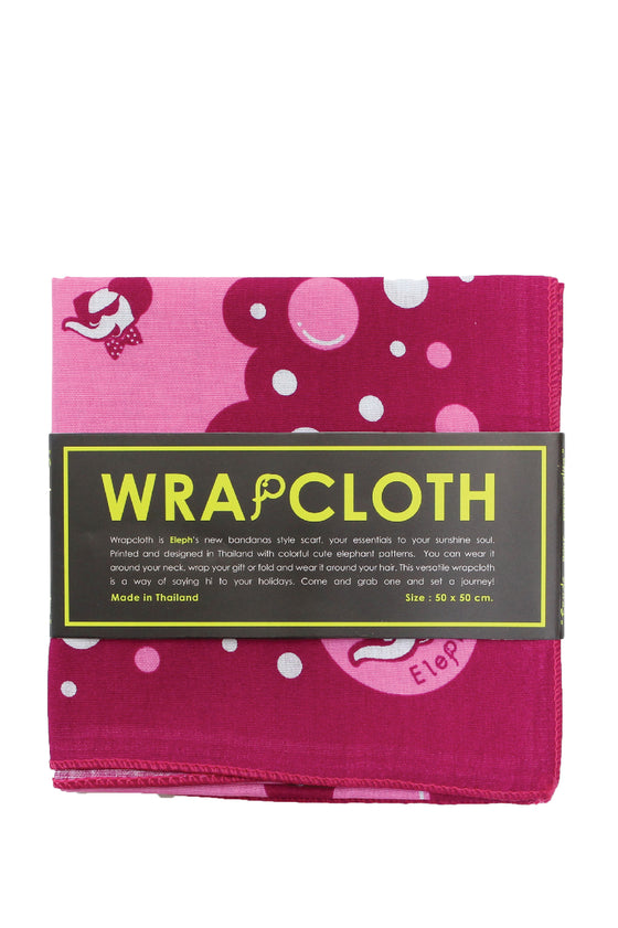 ELEPH WRAPCLOTH - Bubble 50x50cm. : Pink