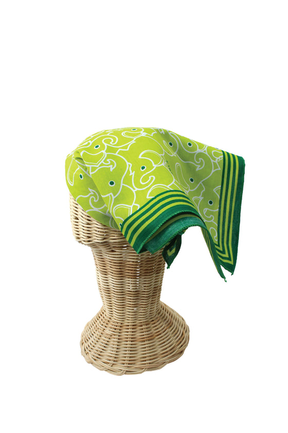 ELEPH WRAPCLOTH - Multi 50x50cm. : Green