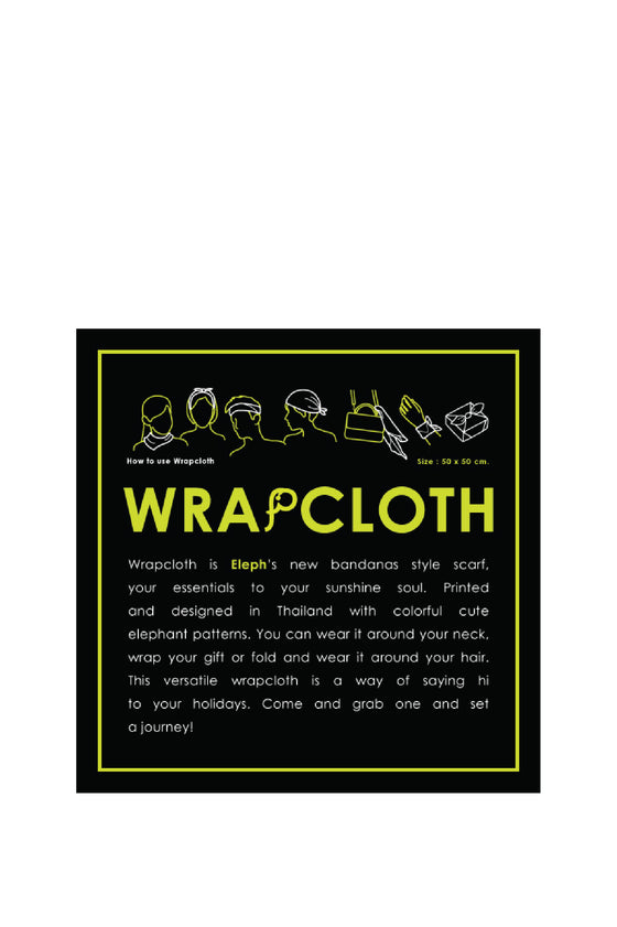 ELEPH WRAPCLOTH - Trooper 50x50cm. : Green