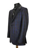 Electric Blue Check Jacket