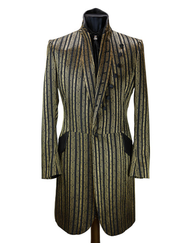 Gold Striped Frock Coat