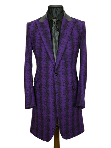 Purple Snake Frock Coat