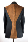 Tan Suede Panelled Jacket