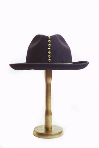 Gold Studded Homburg