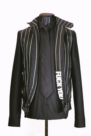 Chalk Stripe Bomber