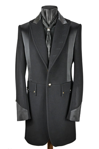 Satin Panelled Frock Coat