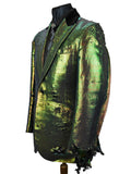 Distressed Green Lamé Jacket