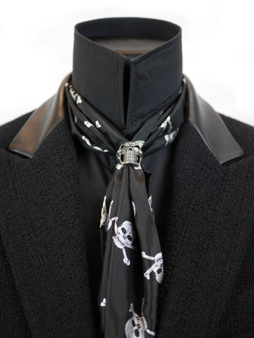 Cravat Ring and Skull Scarf Set