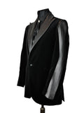 Black Velvet Panelled Jacket