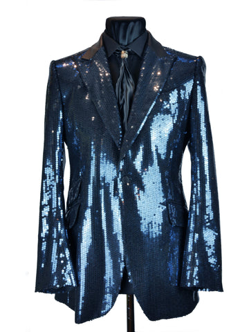 Electric Blue Sequin Jacket