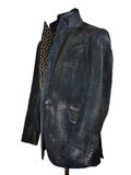 Blue Coated Velvet Jacket