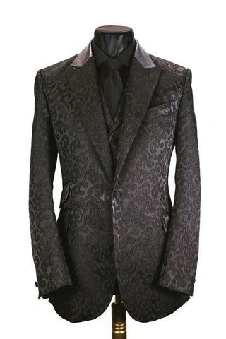 Black Brocade Jacket
