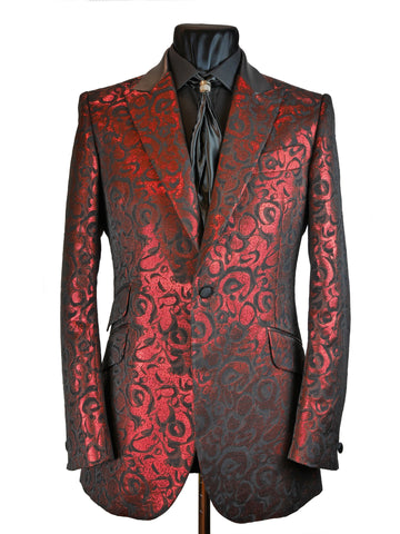 Red Lamé Brocade Jacket