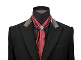 Red Fine Paisley Cravat Ring and Scarf Set