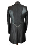 new Black Stripe Frock Coat