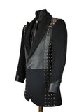 Studded Leather Frock Coat