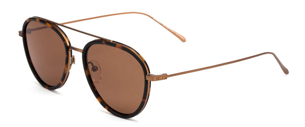 Otis TEMPLIN Matte Havana Tort / Brushed Bronze w/ Brown
