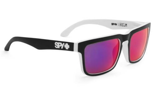 Spy HELM Matte Black White Whitewall w/ Navy Spectra
