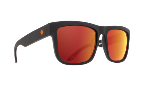 Spy DISCORD Dale Jr Matte Black w/ HD+ Orange Spectra Mirror