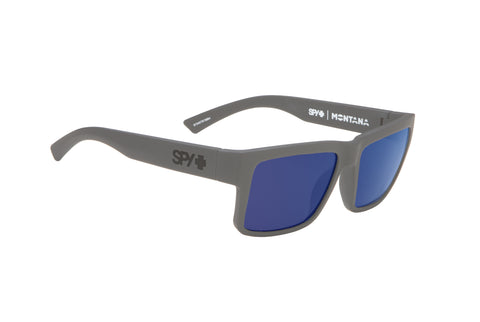 Spy Montana Soft Matte Grey w/ Happy Dark Blue Spectra Polarised