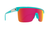 Spy FLYNN 5050 Teal w/ HD Plus Happy Pink Spectra Mirror