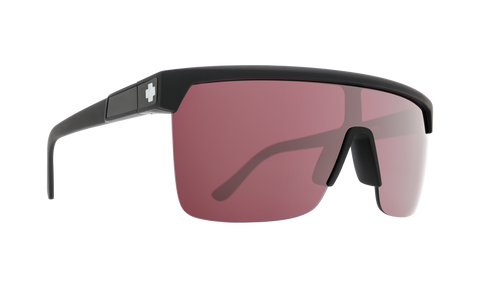 Spy FLYNN 5050 Matte Black w/ HD Plus Rose Silver Spectra Mirror