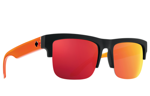 Spy DISCORD 5050 Soft Matte Black Trans Orange w/ HD+ Orange Spectra Mirror