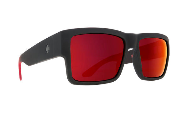 Spy CYRUS Soft Matte Black/Red Fade w/ HD+ Red Flash
