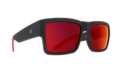 Spy CYRUS Soft Matte Black/Red Fade - Happy Red Flash