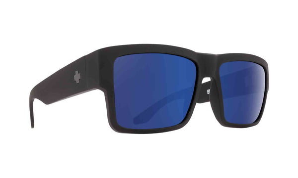Spy CYRUS  Soft Matte Black w/ Happy Blue Spectra