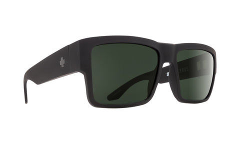 Spy CYRUS  Soft Matte Black w/ Happy Grey Green Polarized