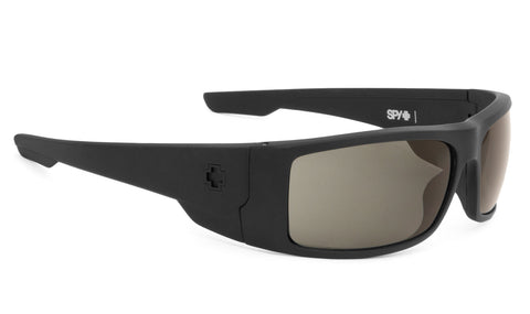 Spy KONVOY Matte Black w/ Happy Grey Polarized