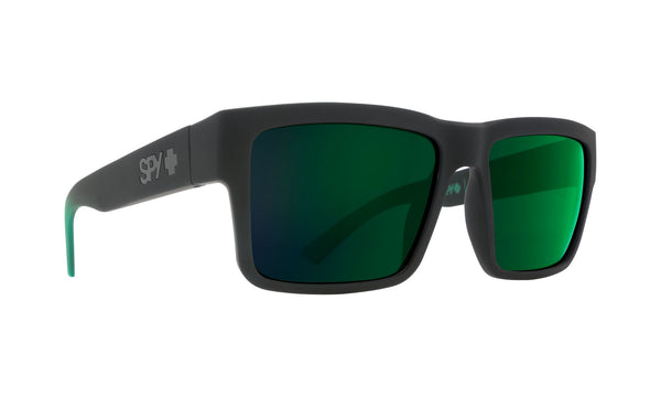 Spy Montana Soft Matte Black/Green Fade w/ Happy Green Flash