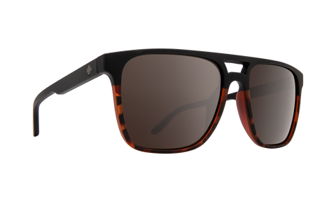 Spy Czar Matte Black & Tort Fade w/ Happy Black Spectra Mirror Polarised