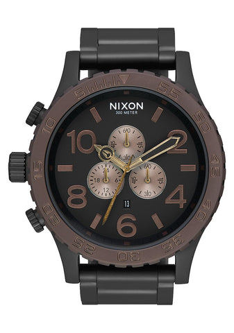 Nixon 51-30 Chrono All Black / Brown / Brass